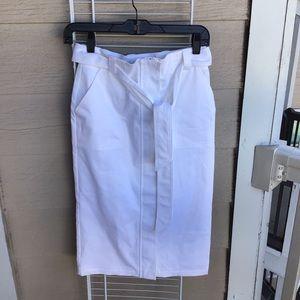 White pencil skirt 0 NWT